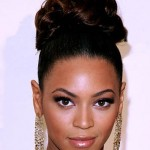 beyonce updo hair style