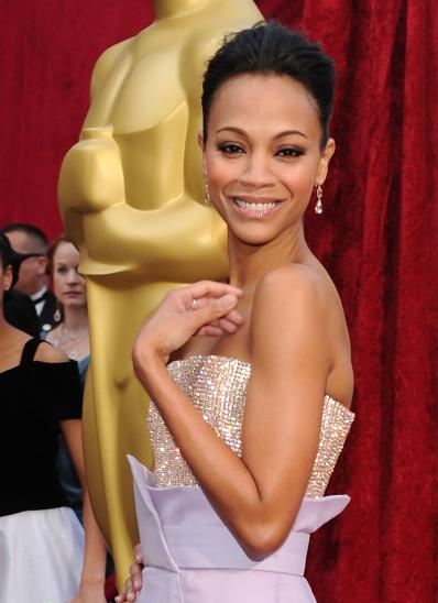 zoe saldana , the incredible star of avatar , looked fabulous at the ...