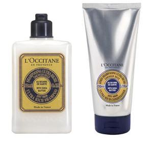 loccitane,shea butter,shampoo,conditioner,review