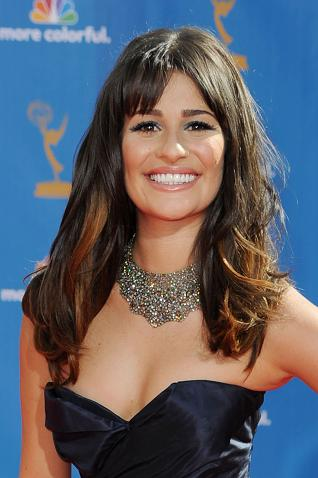 lea michele,lea michele emmys,lea michele hair,lea michele hair style,lea michele hairstyle
