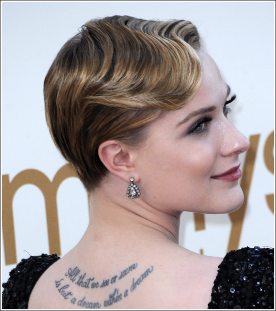 evan rachel wood hair, evan rachel wood hair style, evan rachel wood style, evan rachel wood emmys hair