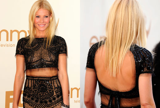 gwyneth paltrow, gwyneth paltrow hair, gwyneth paltrow emmys hair, emmys hair, celebrity hair
