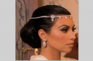 Kim Kardashian, Kim Kardashian wedding, Kim Kardashian wedding hair ...