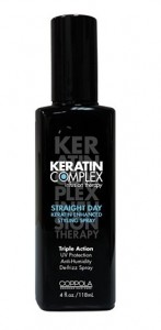 kertain complex, straight day spray reveiw, coppola straight day spray, keratin complex straight day spray
