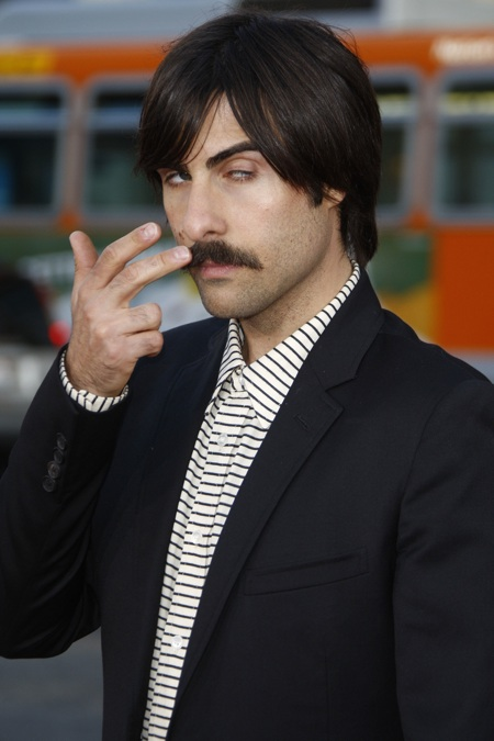 Jason Schwartzman takes his moustache to the premiere of 'Scott Pilgrim vs The World'