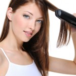 flat ironing hair, flat iron, styling hair with flat iron, straightening hair, straightening iron, hair iron