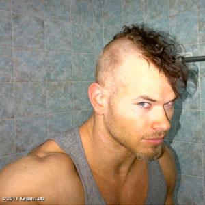 kellan lutz, twilight, kellan lutz mohawk, celebrity mohawk, mohawk, celebrity hair