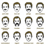 mustaches, mustache inspiration, types of mustaches