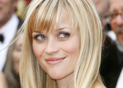 reese witherspoon, reese witherspoon hair, reese witherspoon bangs, hair styles with bangs, wispy bangs
