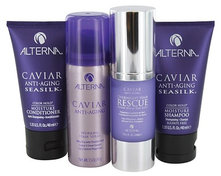 alterna, alterna experience kit, alterna hair care, alterna caviar, alterna overnight hair rescue