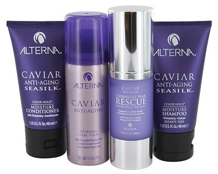 alterna, alterna experience kit, alterna hair care, alterna caviar, alterna overnight hair rescue