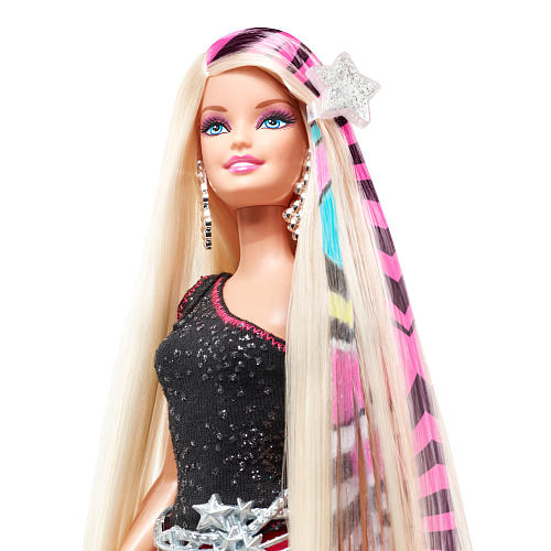 barbie hair extensions, barbie hair design, barbie designable hair extensions
