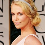 charlize theron, charlize theron hair, charlize theron golden globes hair, charlize theron golden globes 2012