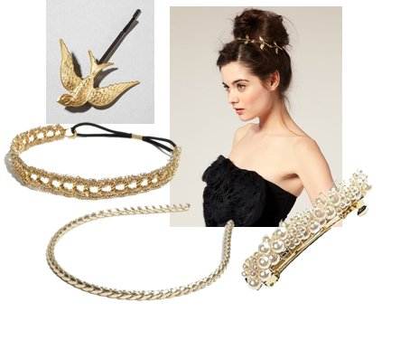 gold hair accessories, hair accessories, gold hair clip, gold headband