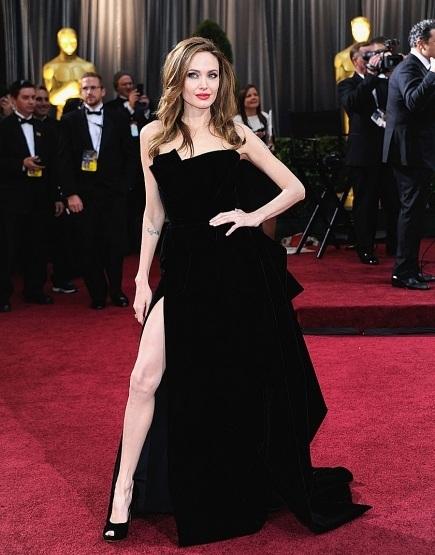 Angelina Jolie Oscar Leg Slits, Oscar legs, Angelina Leg, Academy Awards