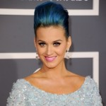 Katy Perry, Katy Perry hair, Katy Perry blue hair, Katy Perry blue updo, Katy Perry grammy's, Katy Perry grammy