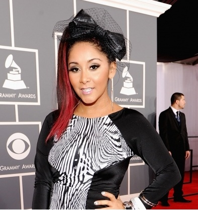 Snooki, Snooki Grammy's, Grammy Awards, Snooki big bow, snooki hair