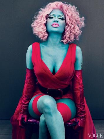 Nicki Minaj, Nicki Minaj vogue, Nicki Minaj hair, Nicki Minaj red hair, Nicki Minaj hair style, Nicki Minaj hairstyle