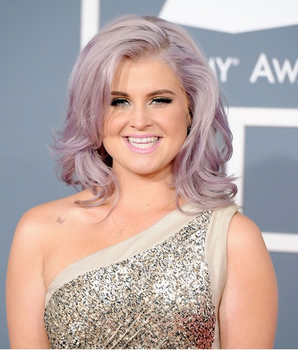 kelly osbourne, kelly osbourne  purple hair, kelly osbourne grammy, 2012, celebrity hair