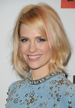 January Jones, January Jones hair, January Jones pink hair, January Jones hair styles