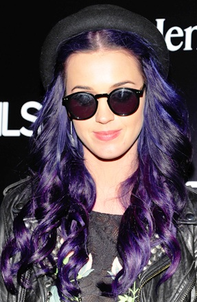 Katy Perry Purple Hair, Katy Perry hair, Katy Perry celebrity hair, Katy Perry Purple