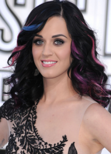 katy perry dip dye hair color