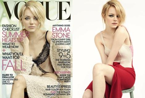 emma stone vogue, vogue magazine, emma stone hair, emma stone hairstyle, emma stone hair style