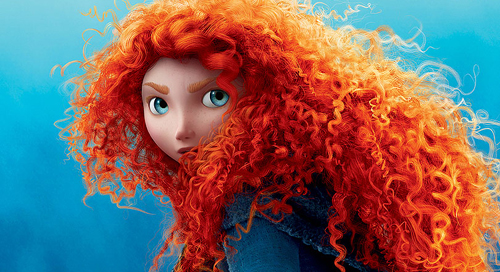 Disney Merida Brave, red hair, red curls, disney