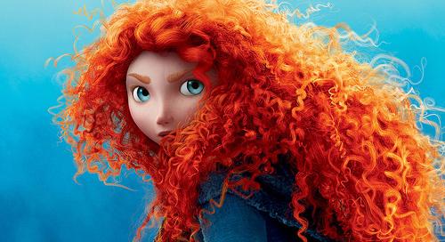 Disney Merida Brave, red hair, red curls, disney