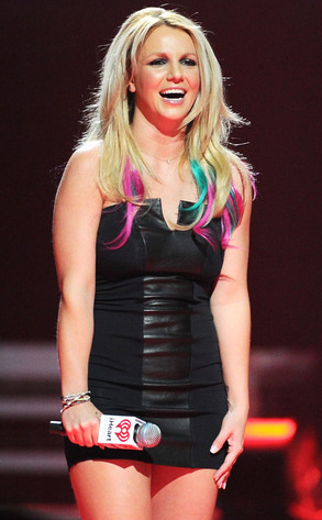 Britney Spears Dip Dye Hair