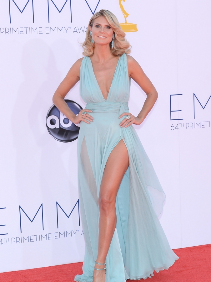 Heidi Klum at the 2012 Emmys Award Show