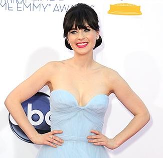 Zooey Deschanel Emmys, Zooey Deschanel hair, Zooey Deschanel Emmys hair style, Zooey Deschanel Emmys hairstyle