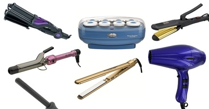 Favorite Hair Appliances, curling irons, flat irons, hair dryers, crimpers