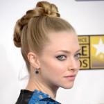 Amanda Seyfried updo celebrity hairstyle
