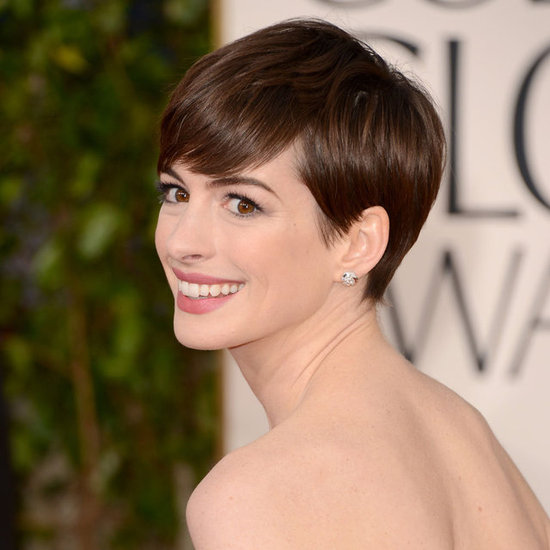2013 Golden Globes Hair – Anne Hathaway