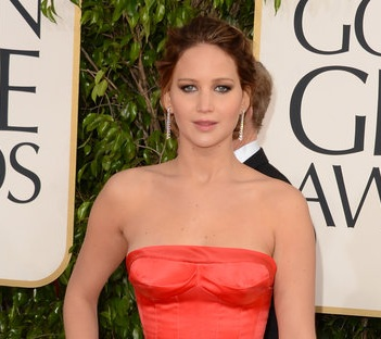 Jennifer Lawrence, 2013 Golden Globes, Jennifer Lawrence Hair, hairstyle, hair style, celebrity hair, celebrity hairstyle