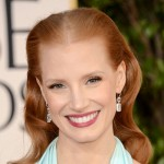 Jessica Chastain, Golden Globes 2013, Jessica Chastain hair, hairstyle, celebrity hair, celebrity hairstyle