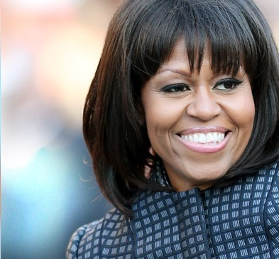 Michelle Obama's Bangs, hair, celebrity hair, new hair style