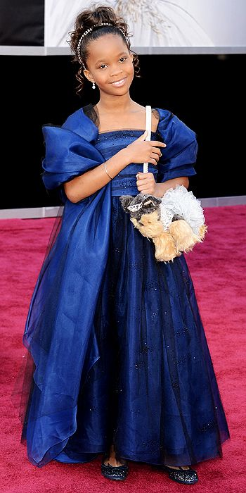 Quvenzhane Wallis, oscars, red carpet, style, hair