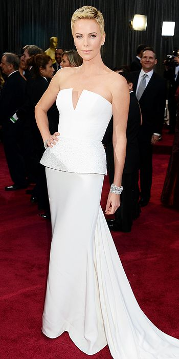 oscars, red carpet, style, hair, charlize theron