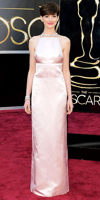 oscars, red carpet, style, hair, anne hathaway