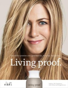 jennifer aniston, living proof, new line, hair secrets