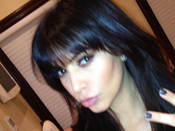 kim kardashian, bangs, kardashian, kardashian hair