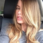 sofia vergara, back to roots, blonde, blonde hair