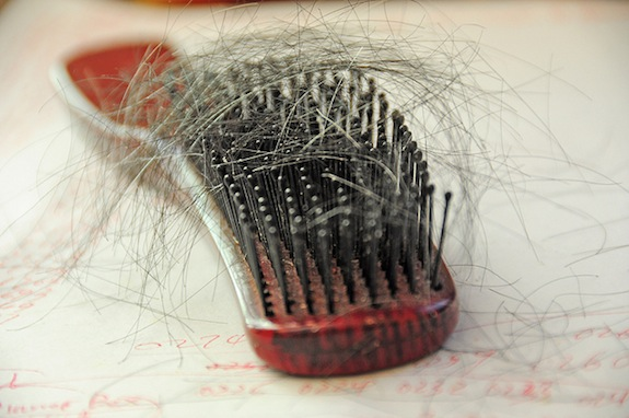 hair loss, hair brush, smithsonian, stress and hair loss, stress, rhodium