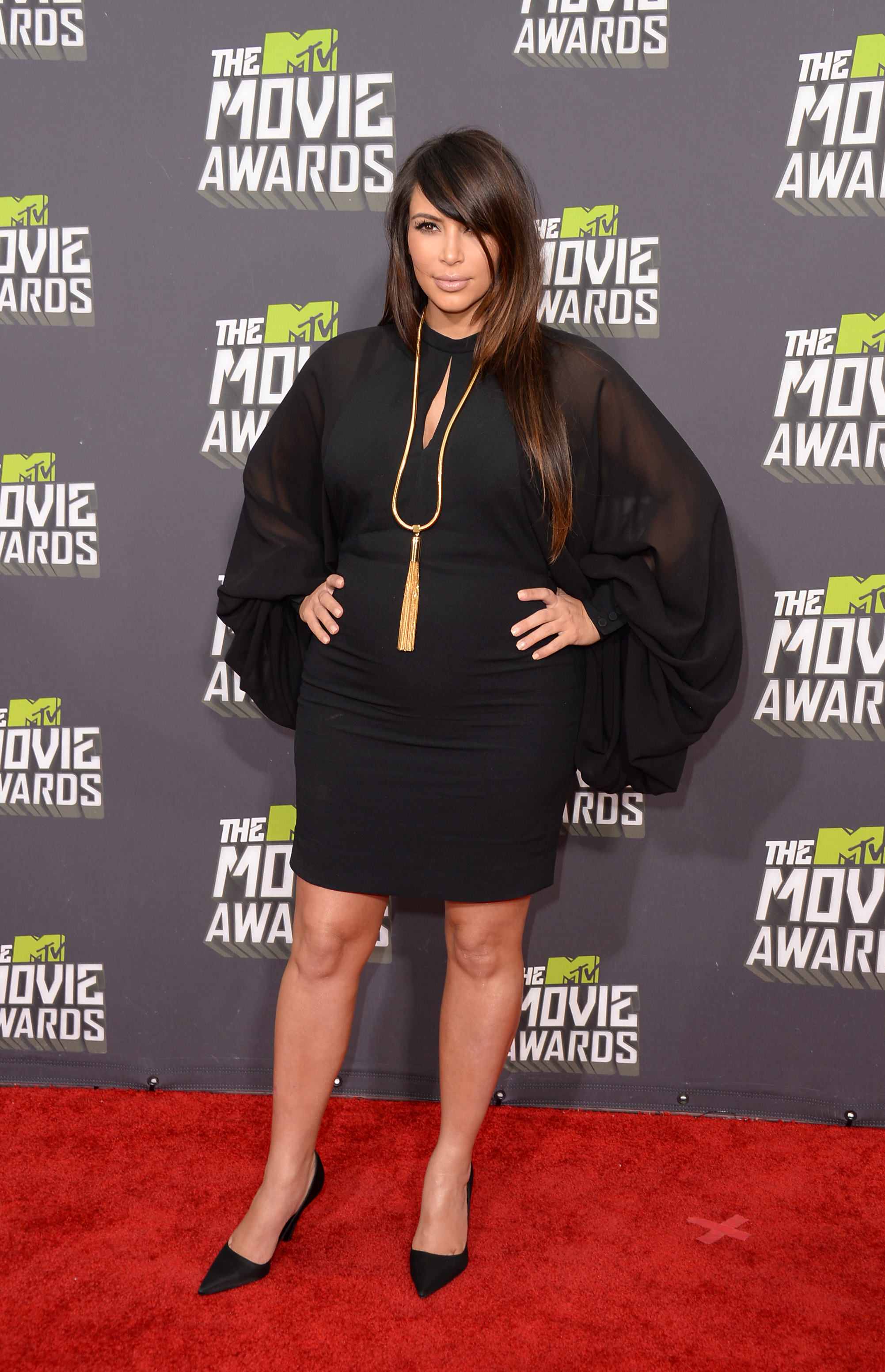 Kim Kardashian at the MTV Movie Awards!
