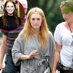 julianne moore, julianne moore hair, blonde hair, red to blonde hair, red hair,