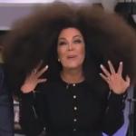 oprah wig, kris jenner oprah wig, kris jenner talk show, kris jenner afro, oprah afro, oprah afro wig