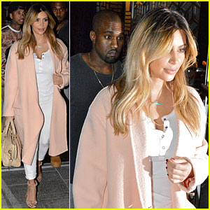 Kim Kardashian's Side Swept Blonde Hair!