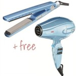 Babyliss Nano Titanium 1 1 4 Flat Iron & Hair Dryer
